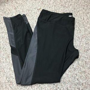 Avia color block workout pants size XL black gray
